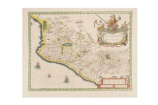 "Blaeu, Willem Janszoon. Nova Hispania, et Nova Galicia. Amsterdam, 1638.  Colored, engraved map, 15 x 19.6""(38.5 x 50 cm)"