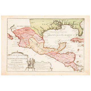 """Fer, Nicolas de. Le Vieux Mexique ou Nouvelle Espagne avec les Costes de La Floride. Paris, 1705. Engraved, colored map, 9 x 12.9"""" (23 x 33 cm)"""