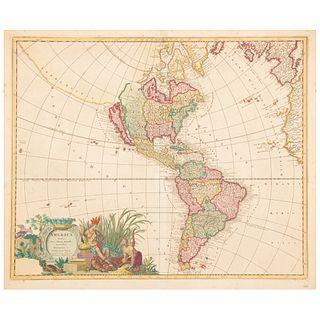 """Valk, Leonardo. America Aurea Pars Altera Mundi, Auctoribus. Amsterdam, ca. 1705. Colored, engraved map, 19.2 x 23.4"""" (49 X 59.6 cm)"""