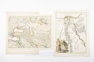 Vaugondy, Robert de / De L'Isle, Guillaume. Carte de l'Egypte Ancienne et Moderne / Theatrum Historivum / Aegypten. Pieces: 3.