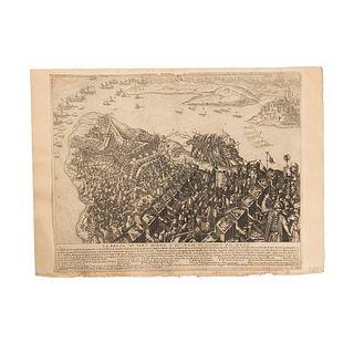 Lucini, Antonio F. Dimostratione di Tutta la Guerra / L'Armata Turchesca/ La Venuta del Gran Soccorso... Grabados. Rome, 1631. Pieces: 5.