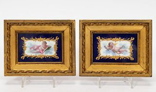PAIR, PORCELAIN PLAQUES ATTRIBUTED TO SEVRES