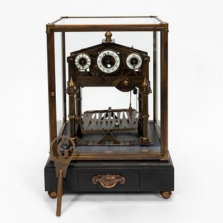 20TH C., FRENCH CONGREVE STYLE ROLLING BALL CLOCK