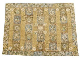 17TH/18TH C. TAPESTRY-WOVEN ALTAR CLOTH