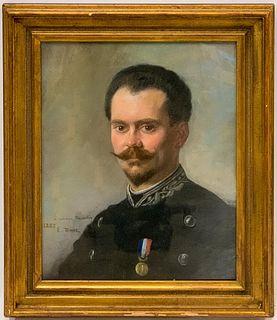 ERNEST DUEZ, PASTEL PORTRAIT OF FERDINAND, C. 1885