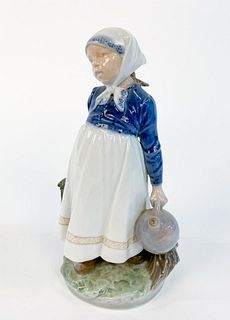 """ROYAL COPENHAGEN """"PEASANT GIRL WITH LUNCH"""" FIGURE"""