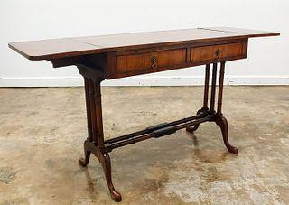 WARING & GILLOW, EDWARDIAN TWO DRAWER SOFA TABLE