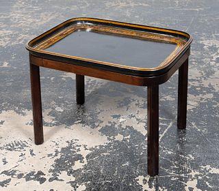 CLUB-FINE PAPIER MACHE TRAY TABLE, 1875