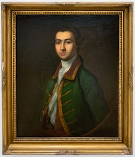 19TH C. ENGLISH PORTRAIT OF GEO. CROKETT, ESQUIRE