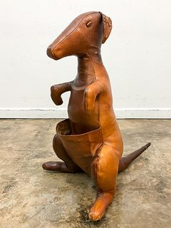 1960s ABERCROMBIE & FITCH LEATHER KANGAROO STAND