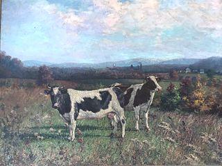 Painting signed J.W. McAdam, 1900