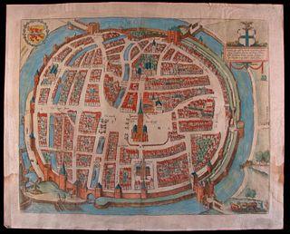 Georges BRAUN & Franz HOGENBERGH Map
