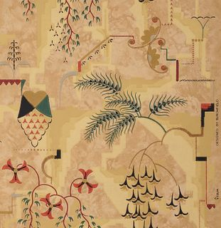"""Modernistic"" Wallpaper, designed by CHARLES EPHRAIM BURCHFIELD (American, 1893-1967)"