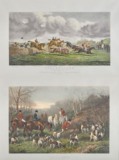 Three Colored Prints of English Sporting Scenes