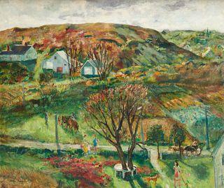 HELEN SAWYER, (American, 1900-1999), Pamet Hills, North Truro, oil on canvas, 36 x 42 in., frame: 45 x 51 in.