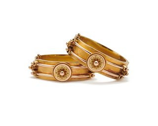 Pair of Victorian Gold Bracelets, retailed by WILLIAM MOIR