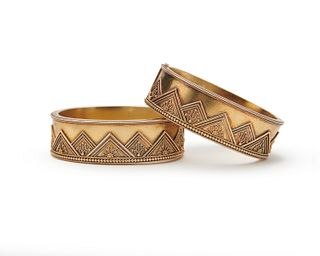 Pair of Victorian Gold Bracelets, retailed by TIFFANY & CO.
