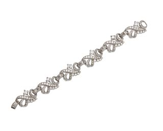 WASLIKOFF & SONS Platinum and Diamond Bracelet