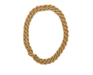 18K Gold Rope Necklace