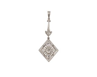 14K Gold and Diamond Pendant