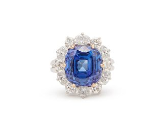 CARTIER Platinum, 18K Gold, Tanzanite, and Diamond Ring