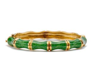 TIFFANY & CO. 18K Gold and Enamel Bracelet