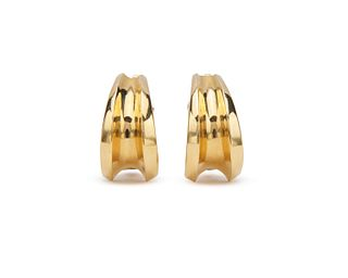 TIFFANY & CO. 18K Gold Hoop Earclips