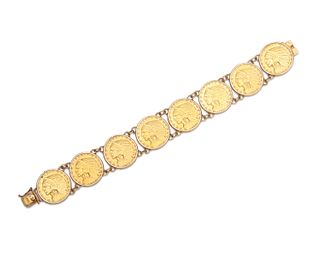 American Liberty Gold Coin Bracelet