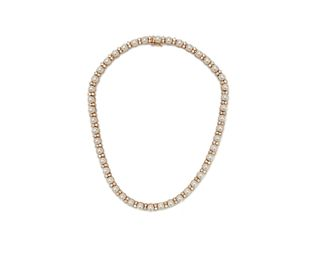 14K Gold, Pearl, and Diamond Necklace
