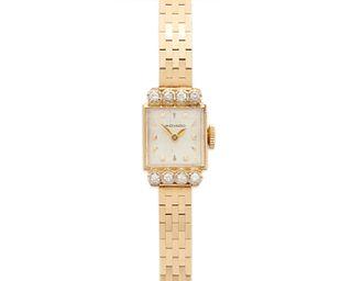 MOVADO 14K Gold and Diamond Wristwatch
