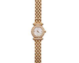 TOURNEAU 14K Gold and Diamond Wristwatch