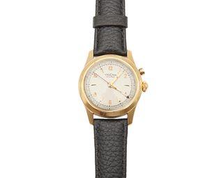 VULCAIN 14K Gold Cricket Alarm Wristwatch