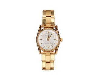 "ROLEX 14K Gold ""Oyster Perpetual"" Wristwatch"