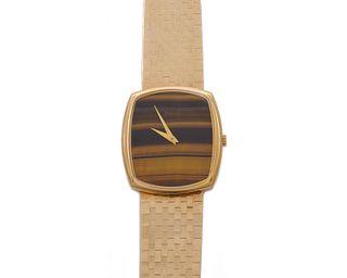 PIAGET 14K Gold and Tiger's Eye Wristwatch