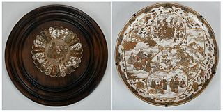 Two Finely Decorated Japanese Satsuma Chargers