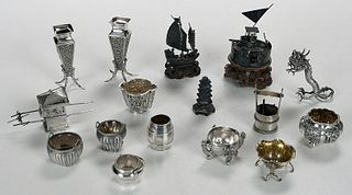 Asian Silver Salts and Miniature Figures