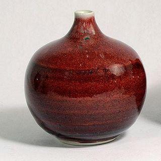 Gerry Williams Oxblood Glazed Porcelain Vase