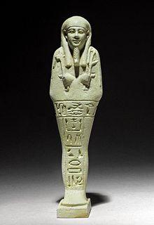 Very Fine Egyptian Faience Ushabti, Art Loss Register