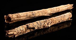 Rare Egyptian Ptolemaic Papyrus Scrolls, Demotic Script