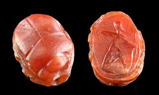 Egyptian 18th Dynasty Carnelian Scarab Thutmose III