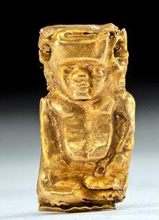 Egyptian 22K+ Gold Pendant Pataikos, ex-Fortuna