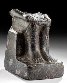 Egyptian 18th / 20th Dynasty Granite Seated Figure