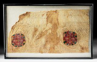 Impressive 4th C. Egyptian Coptic Textile Panel