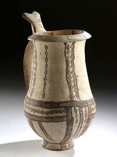 Greek Cypriot Pottery Tankard, ex-Cesnola, ex-Museum