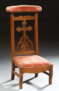 French Carved Beech Prie Dieu, 19th c.