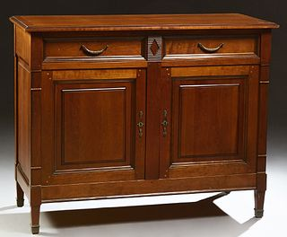 French Louis Philippe Style Carved Cherry and Beech Sideboard, early 20th c