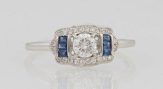 Lady's Platinum Dinner Ring