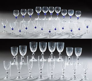 Thirty-Eight Pieces of French Crystal Stemware, 20th c