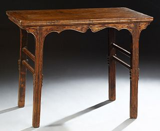 Chinese Carved Elm Altar Table, early 20th c