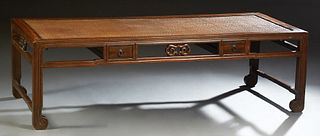 Chinese Carved Elm Day Bed, early 20th c